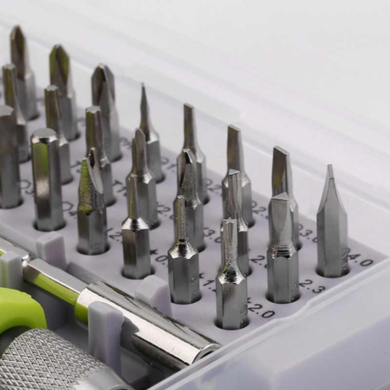 Urijk 32 в 1 Набор отверток прецизионная мини Магнитная отвертка Набор бит телефон Мобильный IPad камера ремонт инструмента