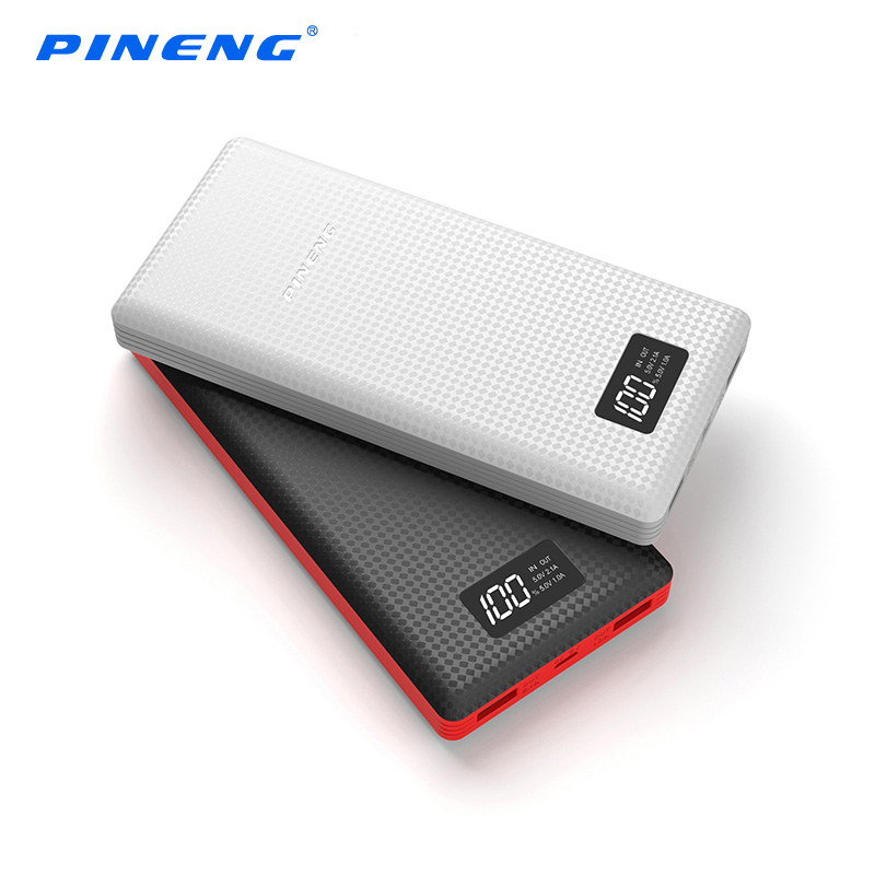 PINENG Power Bank PN 969 20000mah LCD External Battery Portable Mobile Charger Dual USB For iPhone