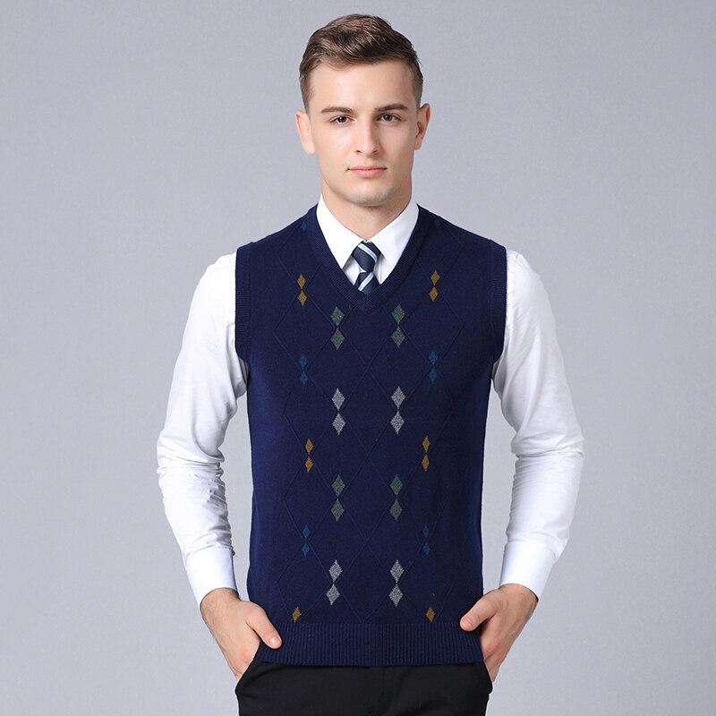 2019 Neue Mode Marke Pullover Für Herren Pullover Weste Slim Fit Jumper Stricken Herbst Jacquard Warme Casual Kleidung Männer