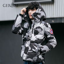 Gersri Parka Men Winter Jackets Cotton Fashion Overcoat Mens Casual Camouflage and Coats Wholesale Plus size 4XL