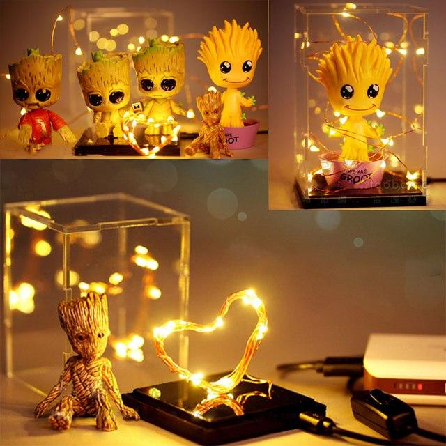 Galaxie Pour Grootted Cadeaux Groot Enfant Jouet D'action Led Veilleuse Bébé Figurine Lampe Arbre Modèle Homme Chambre La Lumière Décoration 6Ybyfg7