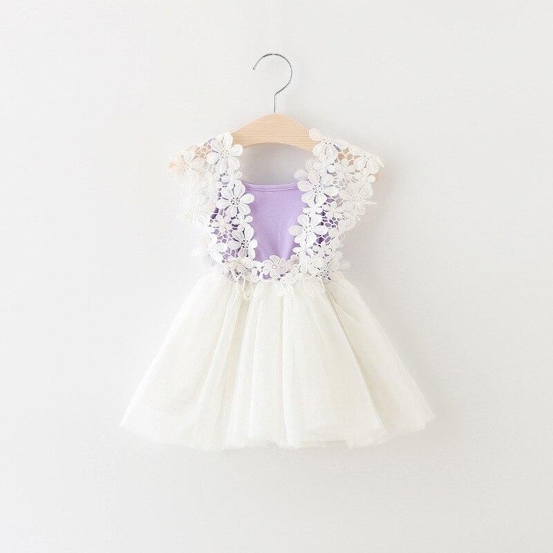 2017 nyári baba lány ruha csipke virág baba hercegnő ruha háló - Bébi ruházat - Fénykép 2