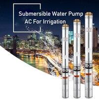 400 Вт 40 м подъемный 220v50hz насос для глубоких скважин погружной водяной насос переменного тока для орошения