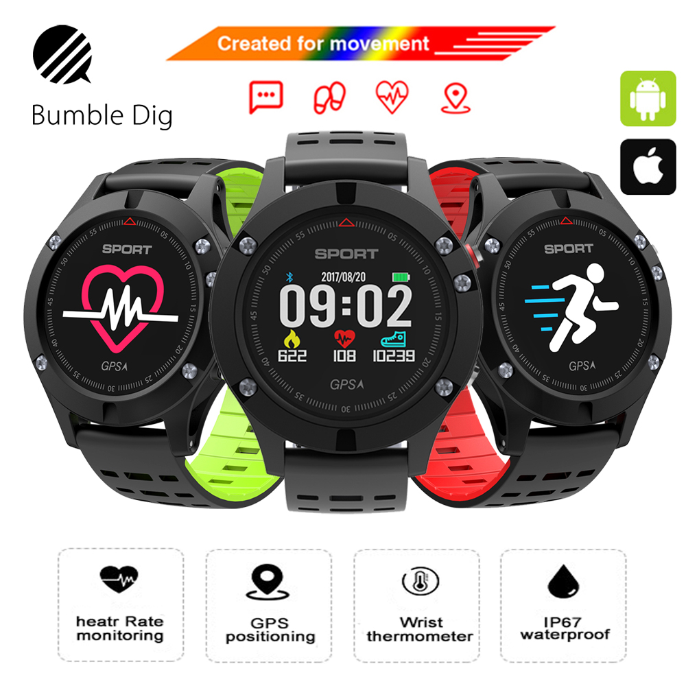 Original F5 GPS Smart watch Altimeter Barometer Thermometer Bluetooth 4.2 Smartwatch Bluetooth  Wearable devices for iOS Android wearables electronic watches altimeter barometer sleep monitor g sensor watch smart android wear smart watch ios bluetooth