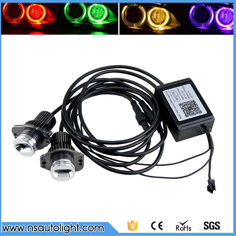 Free Shipping 24W E90 E91 led marker angel eyes with wifi control for 3 Series for bmw E90 E91 sedan/wagon Pre-LCI free shipping настенный светильник ideal lux strale ap1 cromo 013206