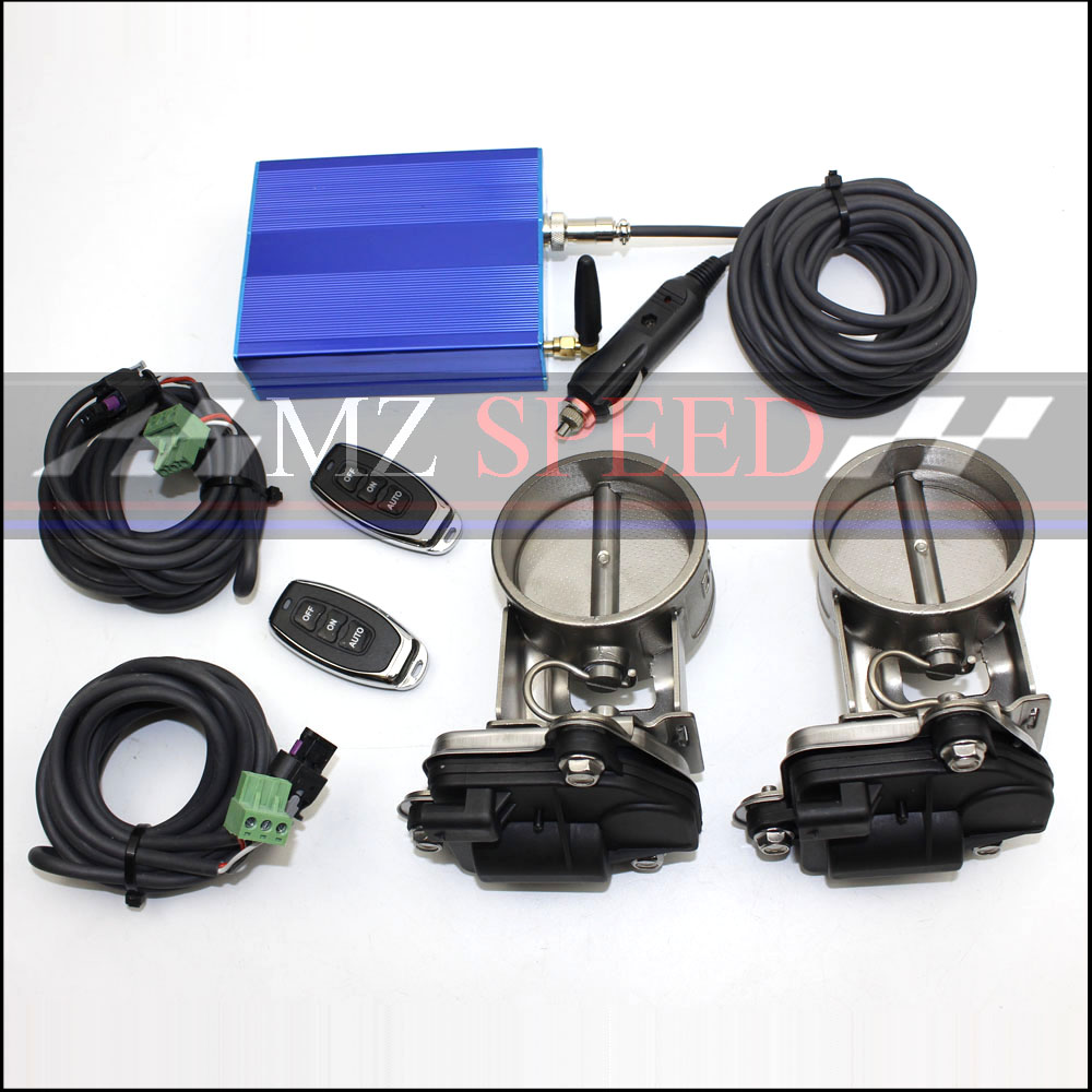 """Car accessories Exhaust Control Valve Dual Set w Remote Cutout Control For 2.5"""" 63mm Pipe 2 sets