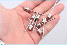 Free Shipping Stainless steel pump ball pin pin Basketball Soccer Volleyball gas needle inflatable metal pin B1