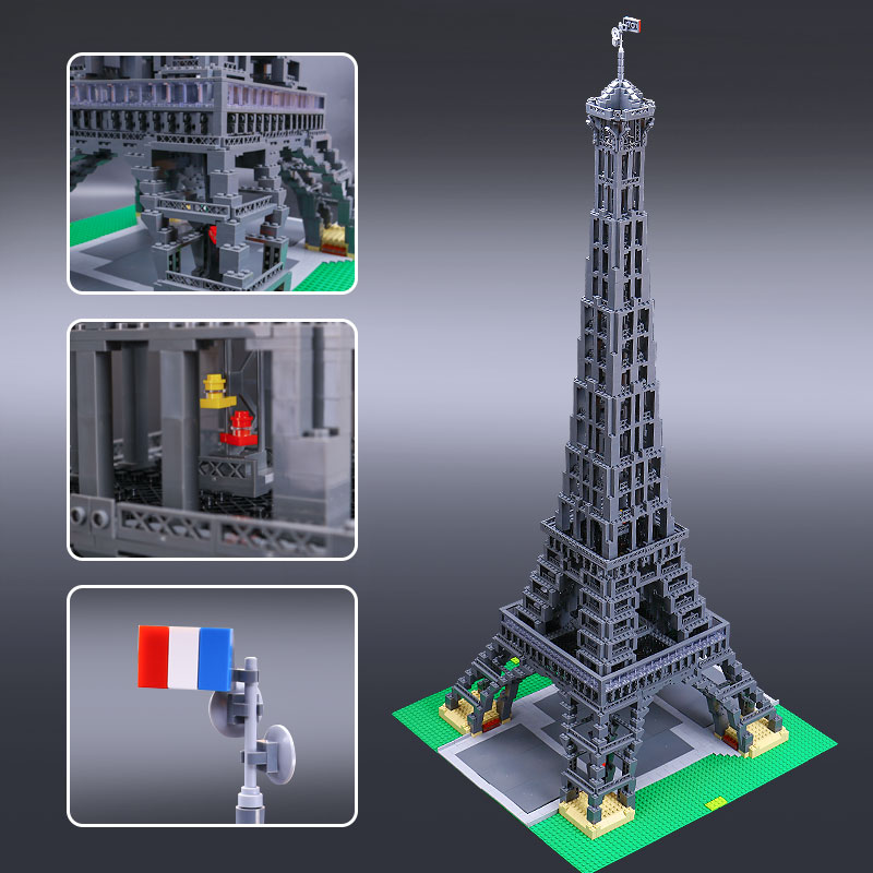 New LEPIN 17002 The Eiffel Tower Model Building set Blocks Brick Compatible 10181 Toys for Children Educational Christmas Gifts new 1048pcs building blocks children lepins education toy baby gifts the spasskaya tower of moscow kremlin model building blocks