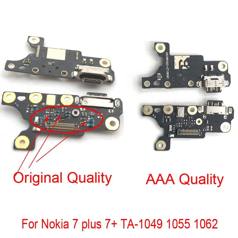 USB Power Charging Connector Plug Port Dock Flex Cable For Nokia 7 Plus 7+ TA-1049 1055 1062 Charging Port Board