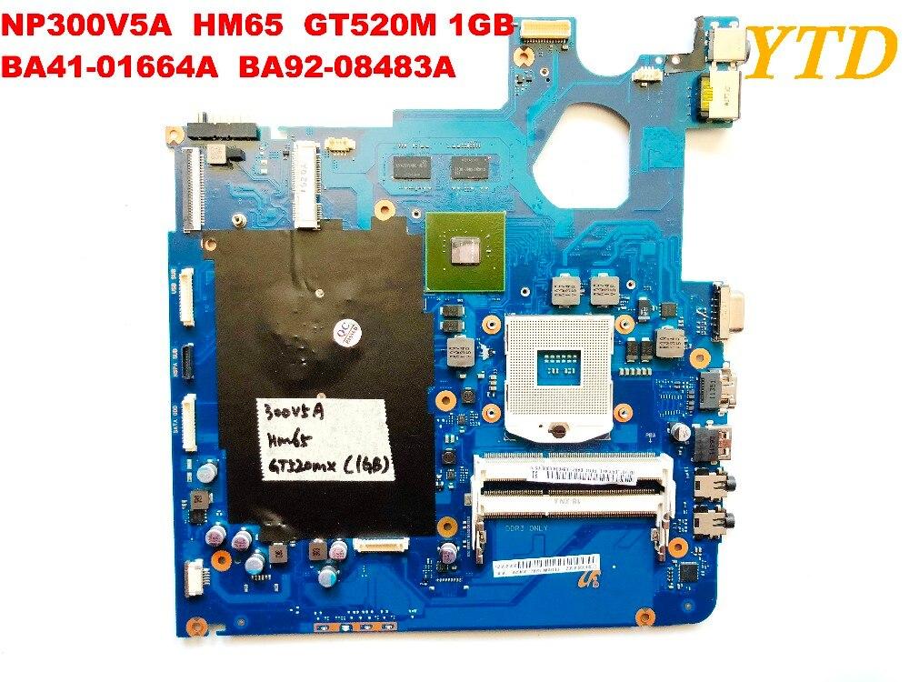 Original For Samsung NP300V5A  Laptop Motherboard NP300V5A  HM65 GT520M 1GB  BA41-01664A  BA92-08483A Tested Good Free Shipping