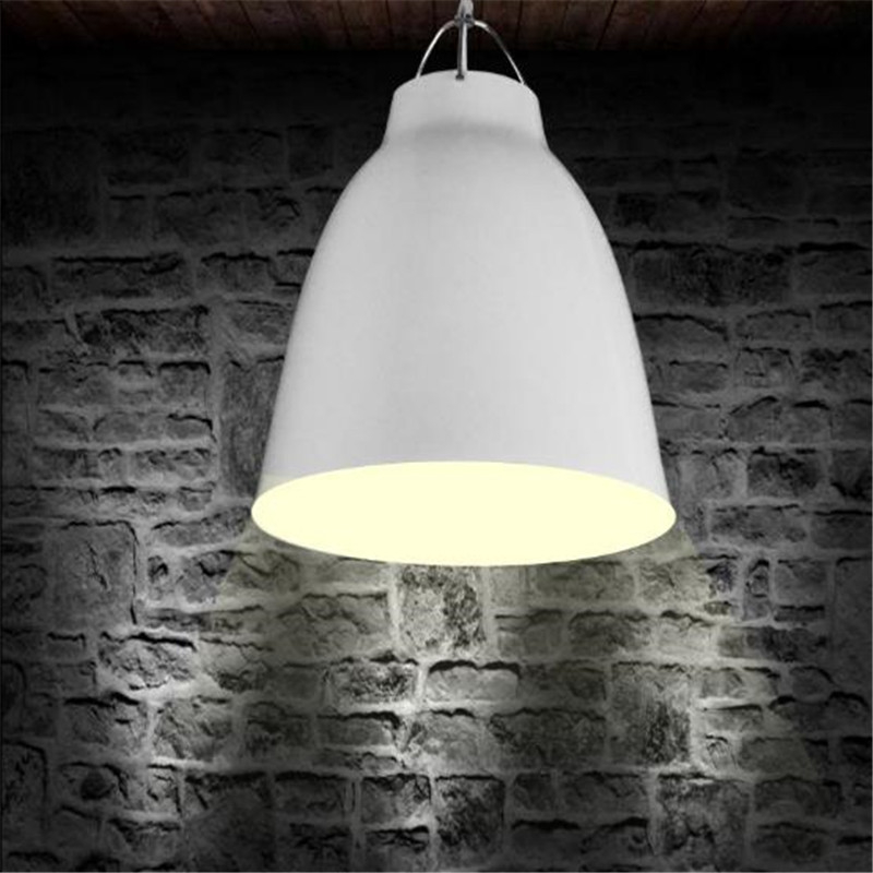 Nordic Creative Personality Single Head Chandelier Retro Bucket Creative Cafe Restaurant Aluminum Big Bells Lamp Free Shipping contemporary and contracted creative personality retro art glass chandelier cafe restaurant study lamps act the role of milan