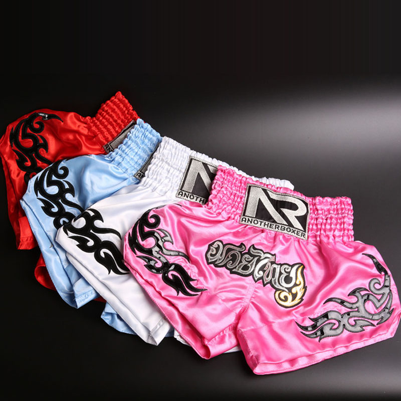The Cheapest Price Kickboxing Shorts Rayon Muay Thai Shorts Print Muay Thai Pantalonetas Men Fight Boxing Mma Shorts Xs-xxl White Sports Pants Excellent In Cushion Effect Boxing Trunks