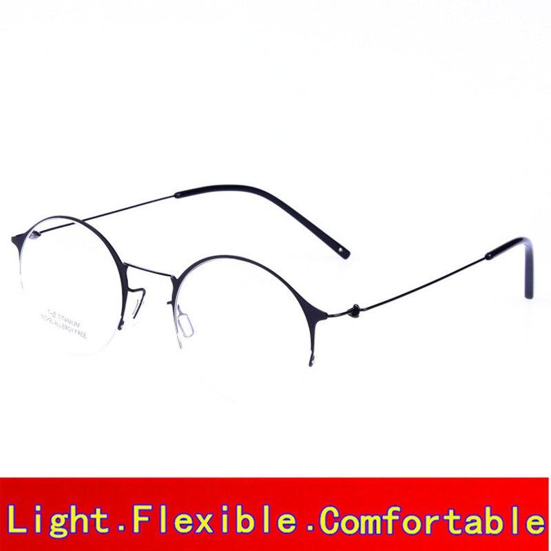 Rétro Ronde Haute qualité Sans Vis titanium cadre pour hommes et femmes Oculos Myopie prescription lunettes avec emballage d'origine