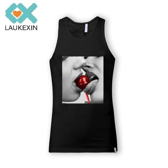 6789265c7e1b4 New Arrival Sexy Girls Men s Tank Top Lollipop Best Friend Fashion Design  Printed Vest Cotton Sleeveless Men T Shirt Size S-2XL