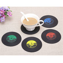 4PCS Vinyl CD Album Record Drinks Coasters Bar Table Cup Glass Skid Mat Holder new style(China)