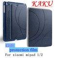 Marca Kaku Padrão Clássico PU Casos De Couro Smart Cover Para Xiaomi casos Tablet Mipad MI Pad 1 2 Mipad1 Com O Dom Gratuito