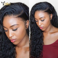 Peruvian Water Wave U Part Wig 4x4 Lace Front Human Hair Wigs For Women Remy Hair Wigs 150% Density Lace Front Wig 8 26inch