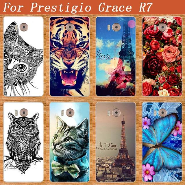 Case For Prestigio Grace R7 Fashion DIY painted Colored Case Cover For Prestigio Grace R7 PSP7501DUO 7501 duo Phone Case