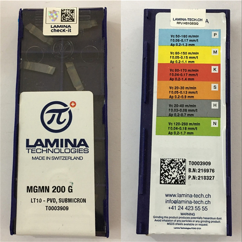 MGMN200-G LT10 100% Original LAMINA Carbide Insert With The Best Quality 10pcs/lot Free Shipping