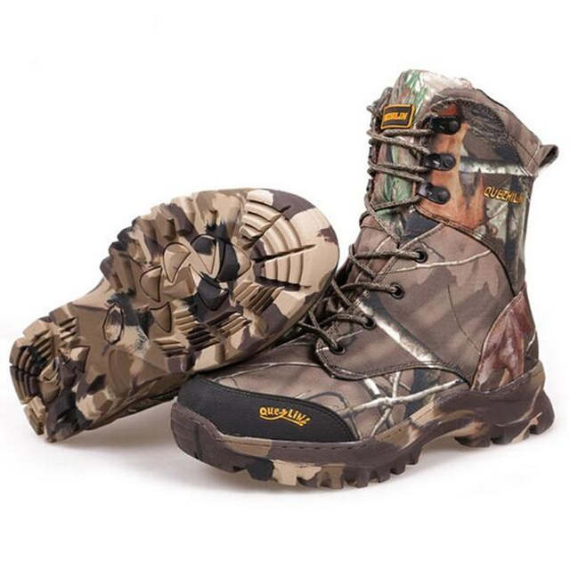 b5d5d15529fff Camo Hunting Boots Realtree AP Camouflage Winter Snow Boots Waterproof,Outdoor  Camo Boot Hunting Fishing