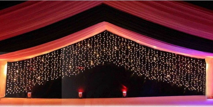 New Year LED Garlands Christmas Lighting Guirlande Lumineuse Wedding Party Decoration Chandelier 3.5M 100 LEDs 16p Pearl Stars