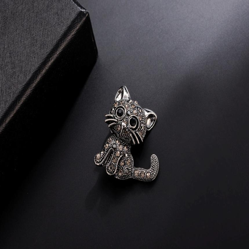 Cute Little Cat Brooch Pin Up Jewelry For Women Suit Hats Clips Corsets Brooches 0420#30