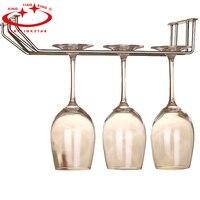 Taças De Champanhe do Aço inoxidável Rack Cromado Copo de Vinho Suporte de Copo de Montagem Na Parede Da Cozinha Rack de Vinho Bar Cabide com Parafusos
