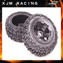 1/5 rc car parts, Rear knobby/wasteland wheel tire (x 2pcs/set) for 1/5 scale hpi rovan baja 5t/5sc