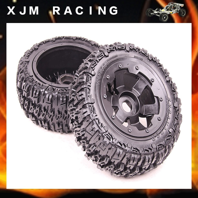 1/5 rc car parts, Rear knobby/wasteland wheel tire (x 2pcs/set) for 1/5 scale hpi rovan baja 5t/5sc 5t knobby wheel set for 1 5 hpi baja 5t