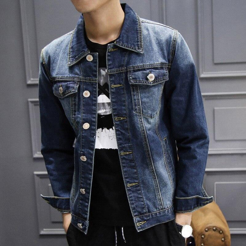 Veste en jean homme manteau décontracté lavage Cowboy