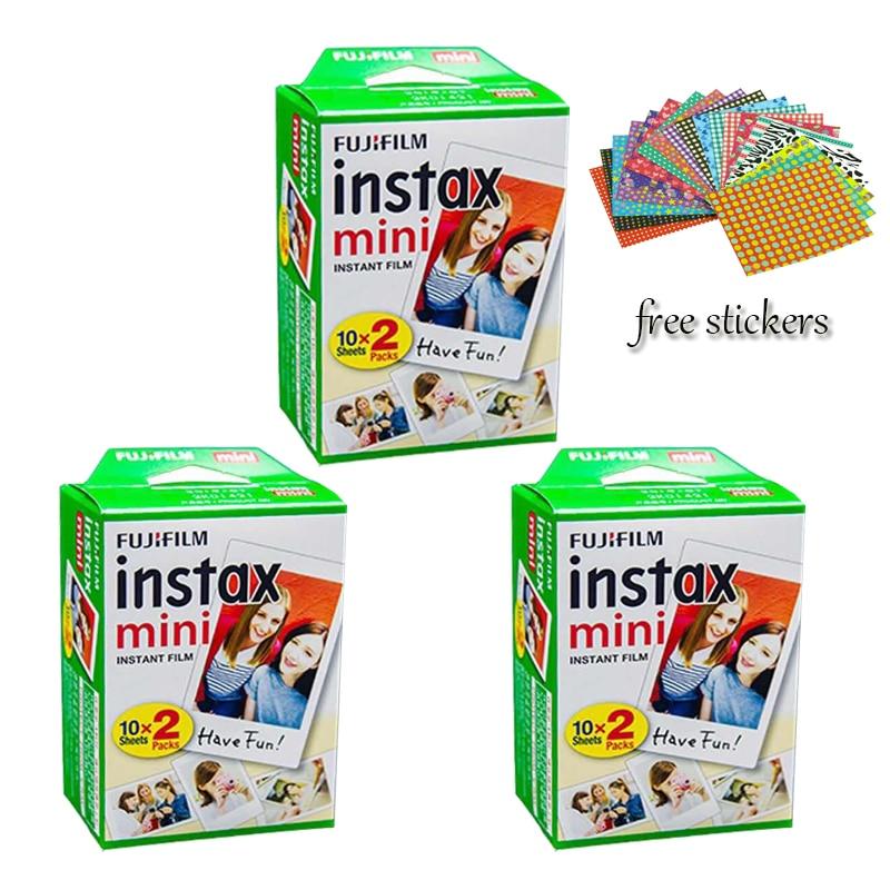 Véritable 60 pièces Fuji Fujifilm Instax Mini 8 Film pour polaroid mini 8 Mini10 20 7 7 s 50 s 90 25 dw 50i partager SP-1 appareils photo instantanés