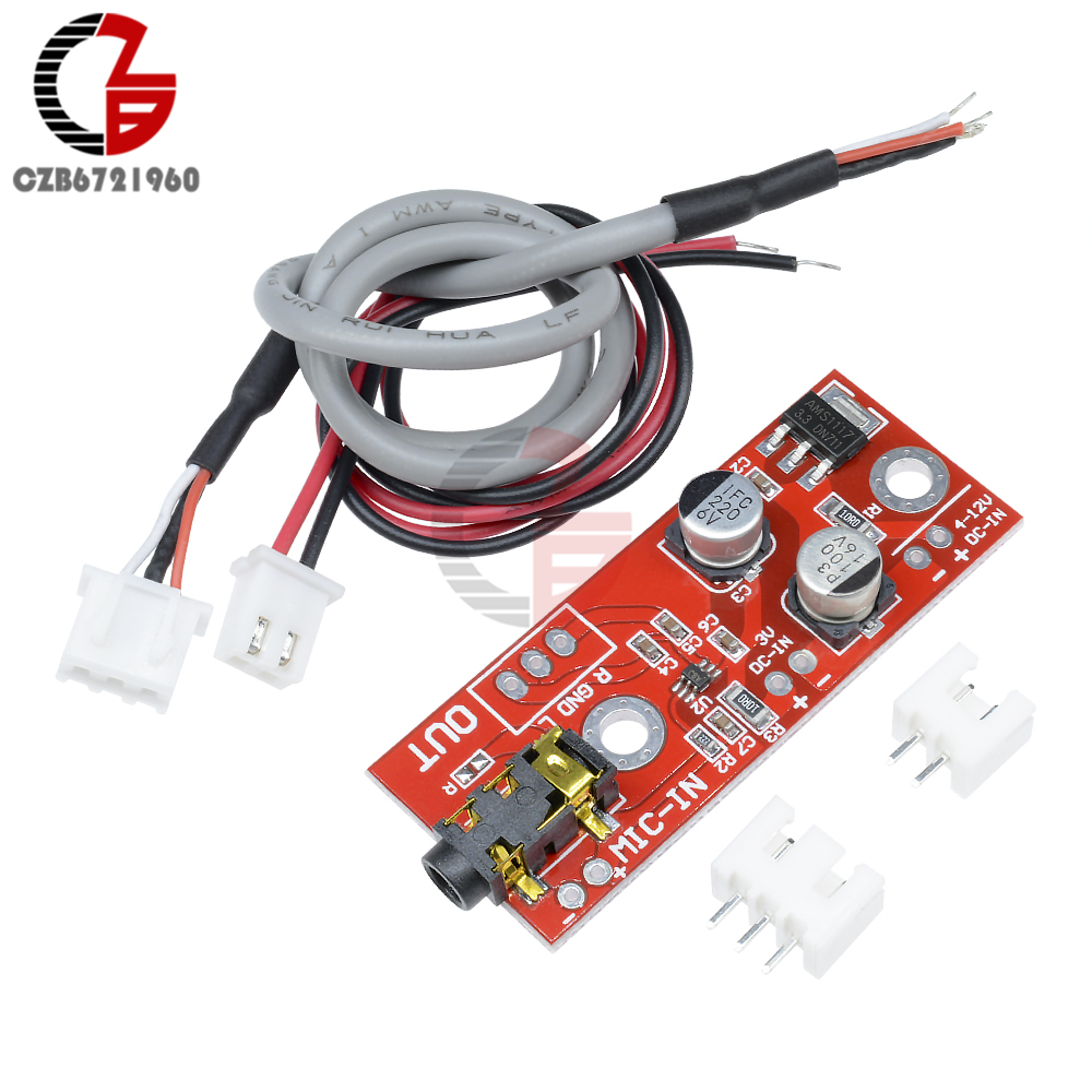 Max9812 Electret Microphone Amplifier Board Sound Voice Module 3v 5v 12v Input In Instrument Parts Accessories From Tools On Alibaba