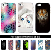 """Case for Apple iPhone 5 5S SE iPhone5 Printed Cartoon Silicone TPU Back Cover for IPhone 5 5s 5G SE 4.0"""" Soft Protective Bags"""