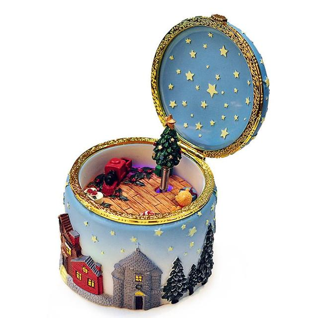 Musical Christmas Elk Tree Music Box Astonated Birthday Gift Send Girl Beautiful Design Caixa De Musica
