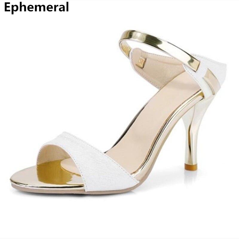 New arrivals 2018 slides women summer slippers high heel peep toe sandalia feminina zapato tacon alto plus size 44-34 beige pink