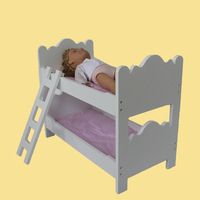 Bunk Bed For Twin Dolls Fits 18 Inch Dolls Only Sell Bed