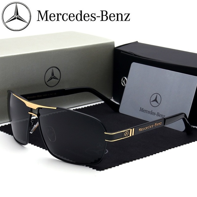 Mercedes-Benz sunglasses Brand Best Men's Sunglasses Polarized Mirror Lens fashion Eyewear Accessories Sun Glasses 722