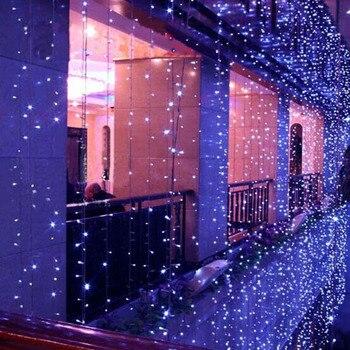 10x1 m 10x3 m LED عيد الميلاد أضواء في الهواء الطلق أكاليل الزفاف زينة كورتينا دي Led أضواء الستار IP65 LED سلسلة الجنية أضواء