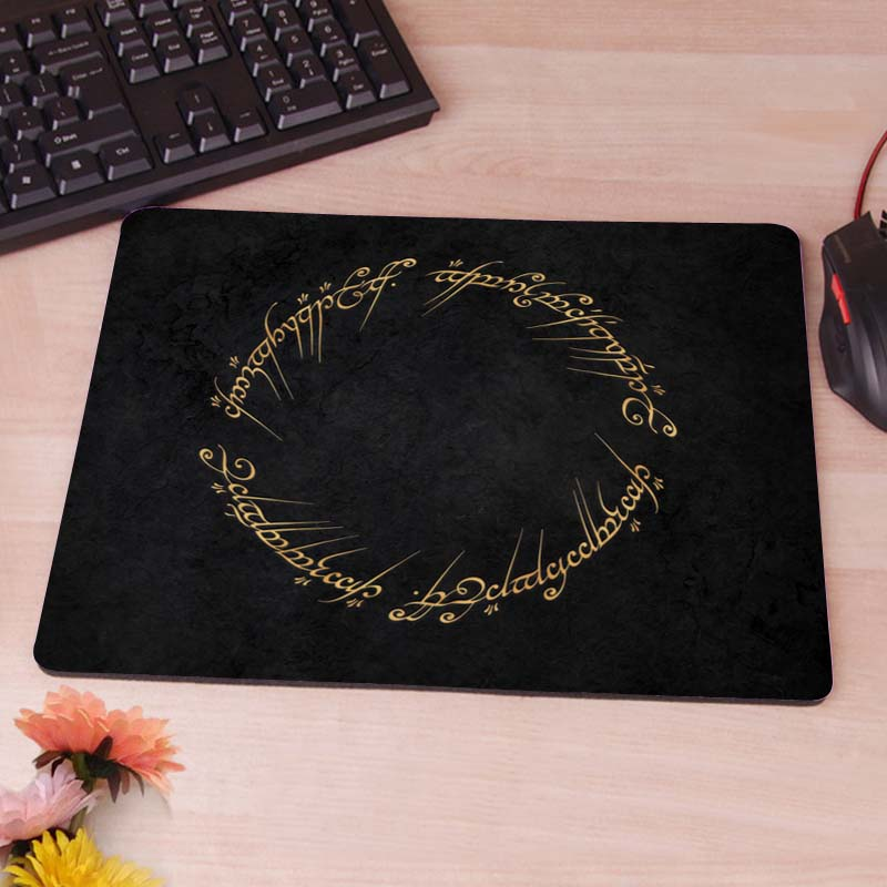 The Lord of the Rings movies text typography writing Game Gaming Mouse Pad Mat Mousepad as Gifts Wholesale