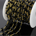 Diy 5 м черный граненый стакан из бисера сеть, Черный оникс провода завернутый сеть из бисера, Четки стиль женщины ожерелье ювелирных изделий