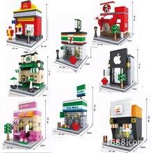 Diamond Building Blocks assembled block Mini Street Series DIY Assembling font b Toys b font 3D