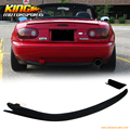 For 1990 1991 1992 1993 1994 1995 1996 1997 Mazda Miata JDM MX5 Black Urethane Rear Bumper Diffuser Lip Spoiler Kit