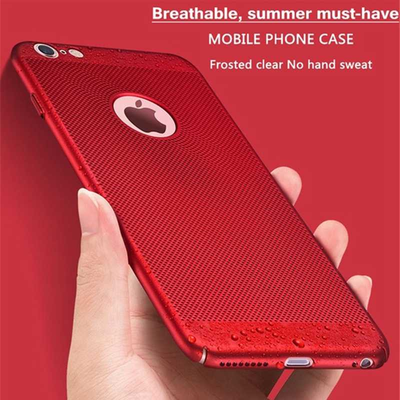 Funda para teléfono Ultra delgada disipación de calor para iPhone 7 8 6 6s Plus 11 PRO X XR XS 8 MAX fundas finas y simples