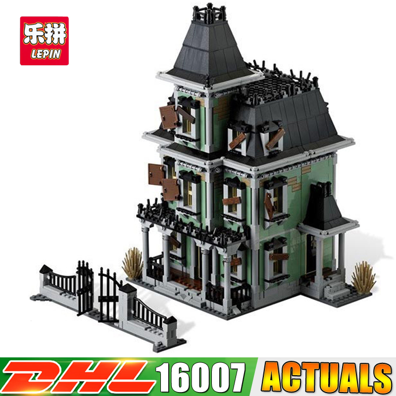LEPIN 16007 2141Pcs Monster fighter The haunted house Model set Building for Kit DIY Educational Gift Compatible With 10228 in stock new lepin 16007 2141pcs monster fighter the haunted house model set building kits model compatible with10228