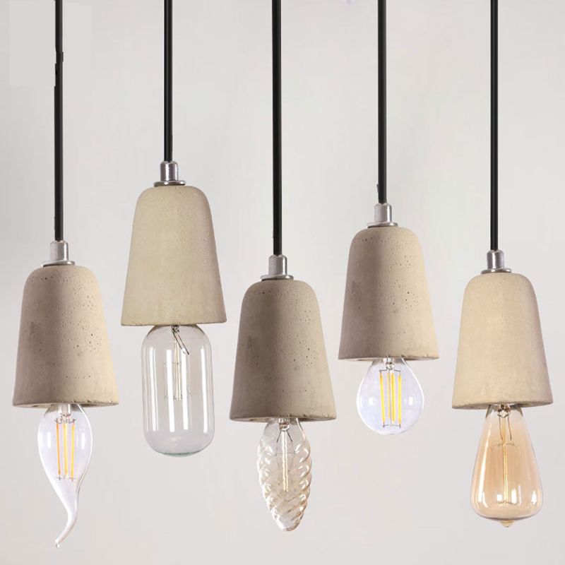Nordic Minimalist Retro Pendant Light Concret Cement Gypsum Vintage Lamp Restaurant Dining Room Coffee Shop Hall Pendent Lamps free shipping 5 pcs nordic restaurant coffee retro shop pendant lights bar loft iron pendant lamp 2d geometric character lamps