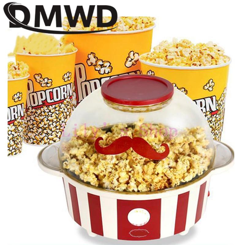все цены на DMWD Household Mini Electric Oil-popped Hot Air Popcorn Making Machine popcorn maker DIY Corn popper Children Gift EU US plug онлайн