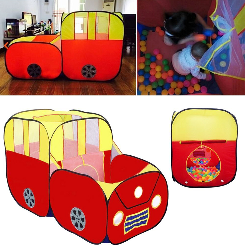 Red Sports Car Kids Play Tent House Play Hut Children Ocean Balls Pit Pool Pop Hut Play Pool Play Tent Best Kids Gift