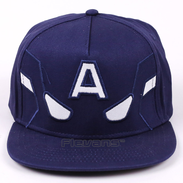 33504dd85f808 2017 Marvel Avengers Captain America Men Women Baseball Cap Snapback  Printing Hip Hop Hats Quality Cotton
