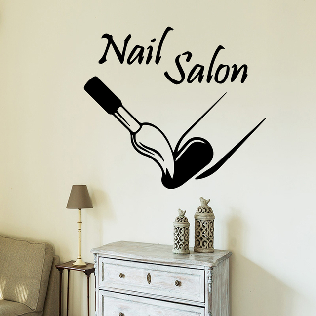 Creative nail salon Wall Decals Wall Sticker For Girl Bedroom House Decoration Wall Decor Sticker Mural