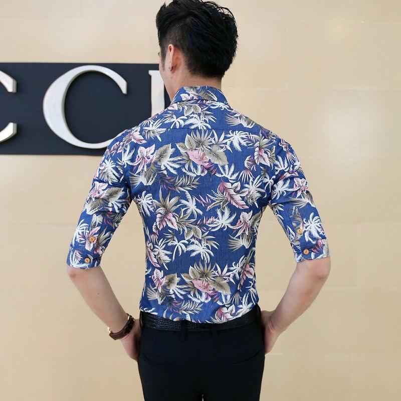 b21c17d672 US $26.9 |Sexy Men Aloha Shirt Tropical Luau Beach Hawaiian Hawaii Slim  Skinny Dress Shirt-in Casual Shirts from Men's Clothing on Aliexpress.com |  ...